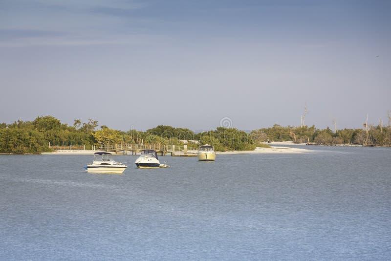 Florida Keys fishing boats stock photo