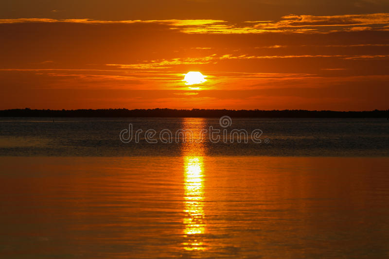 florida keys solnedgång arkivfoto