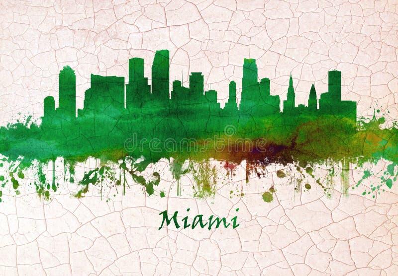 florida linia horyzontu Miami ilustracja wektor