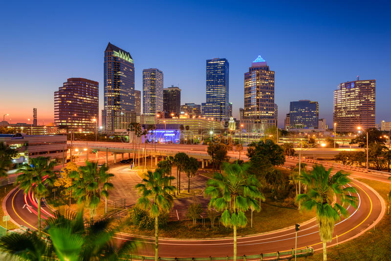 florida linia horyzontu Tampa zdjęcia royalty free