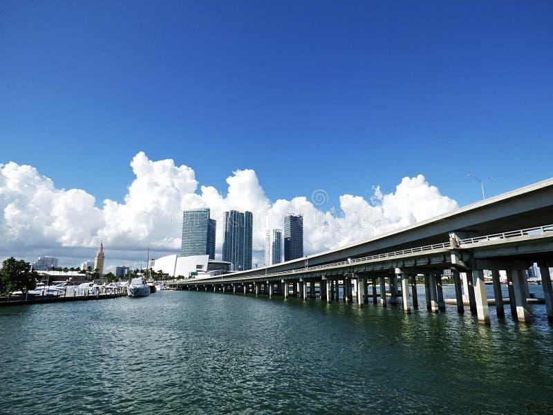 Florida, Maiami, Panoramablick der Bucht lizenzfreies stockbild