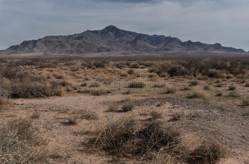 Florida Mountains horizontal landscape in New Mexico. The rugged nature of the Florida Mountains can easily be seen from the southwestern side. They are located royalty free stock photography