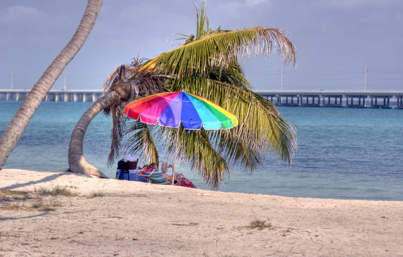Florida's relaxing beaches royalty free stock image