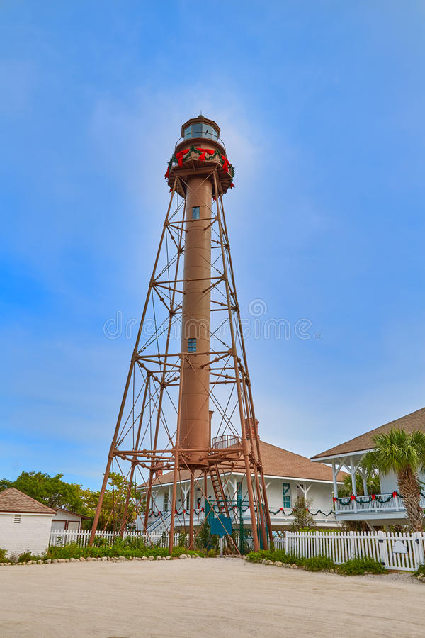 Florida Sanibel island lighthouse US royalty free stock photos