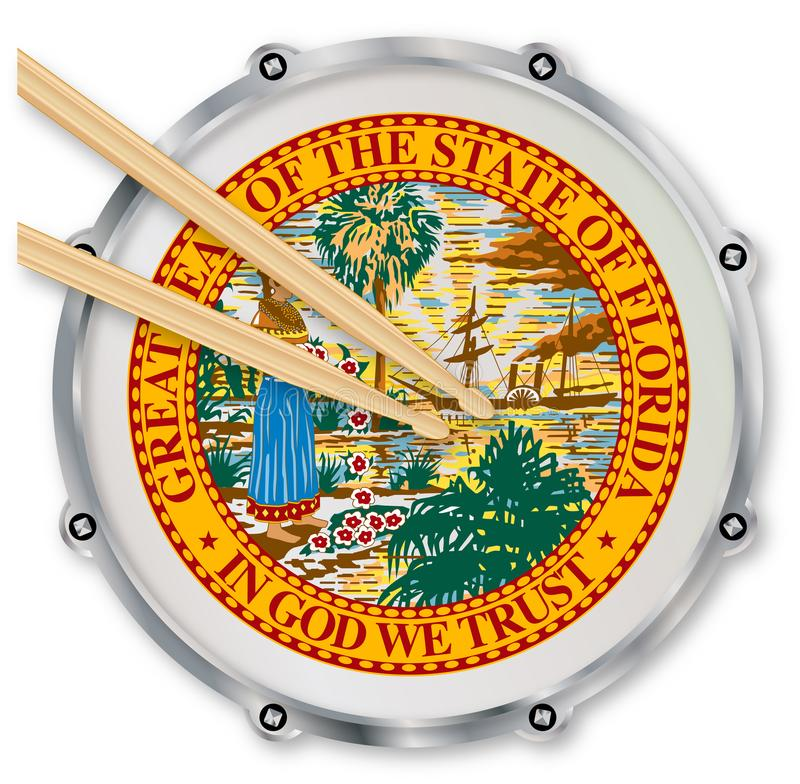 Florida-Schnarrtrommel lizenzfreie abbildung