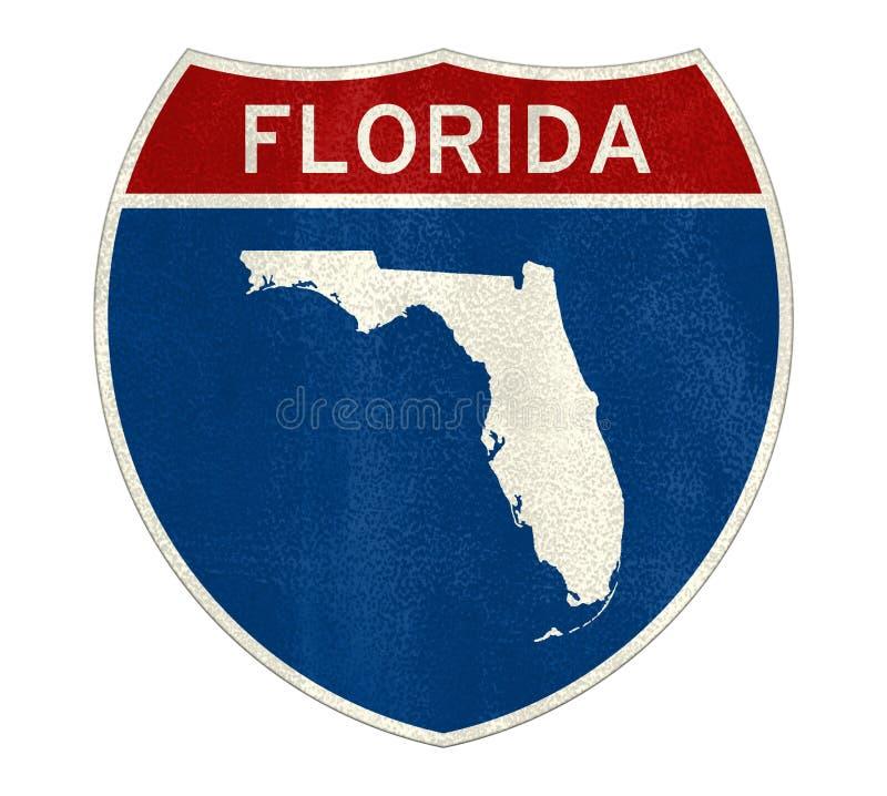 Florida sign map vector illustration