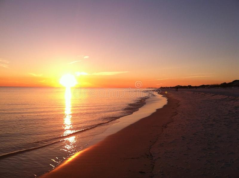 Florida-Sonnenuntergang lizenzfreie stockfotos