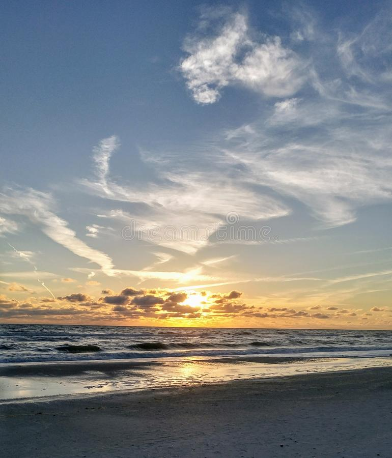 FLorida southwest sunset view, beaches royalty free stock images