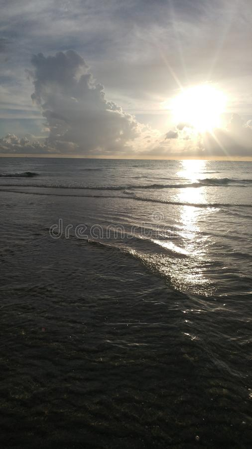 FLorida southwest sunset view, beaches. Florida sunsets colors, southwest gulf coast stock image