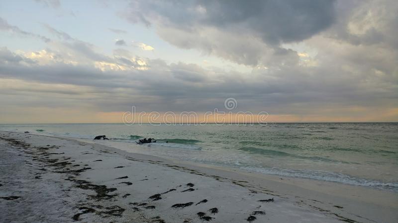 FLorida southwest sunset view, beaches. Florida sunsets colors, southwest gulf coast royalty free stock images