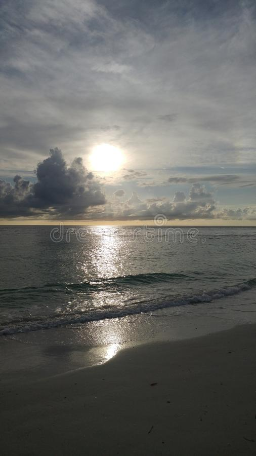 FLorida southwest sunset view, beaches. Florida sunsets colors, southwest gulf coast stock images
