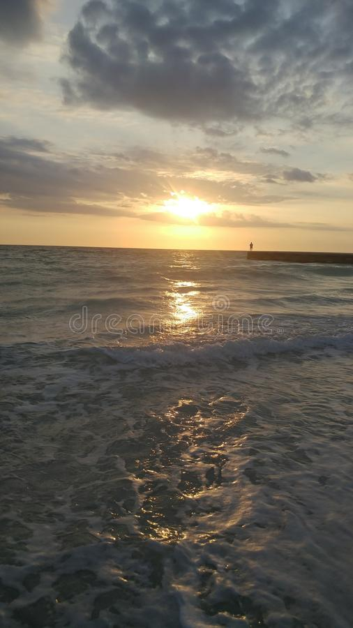 FLorida southwest sunset view, beaches. Florida sunsets colors, southwest gulf coast stock photography