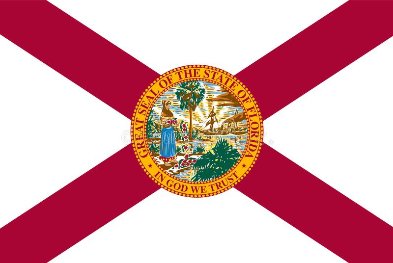 Florida state vector flag. vector illustration