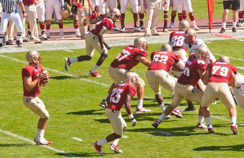 Florida State Seminoles Quarterback in Action stock images