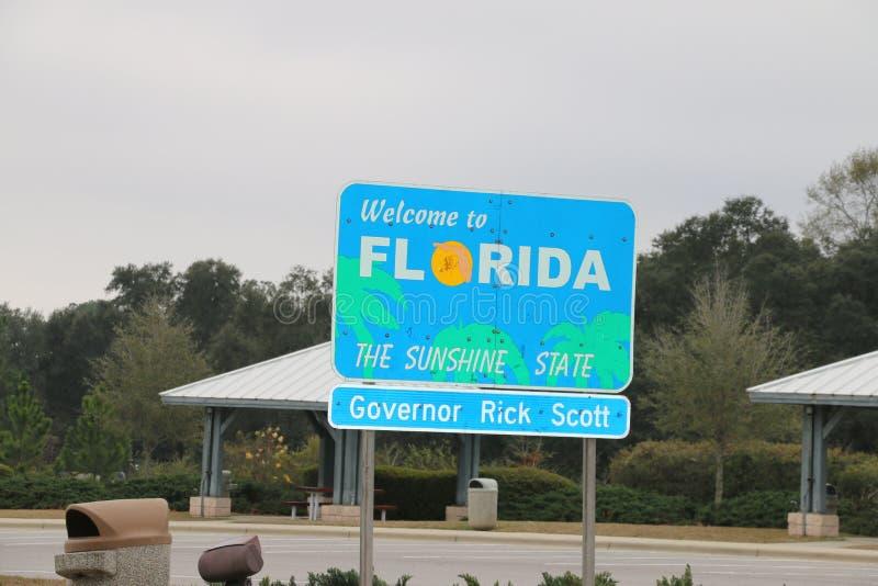 Florida state sign stock photo