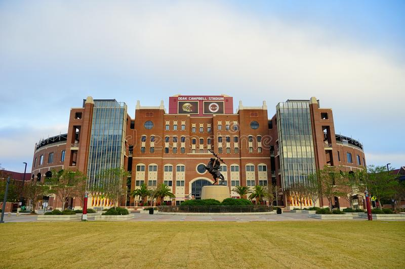 Florida State University football field stock images
