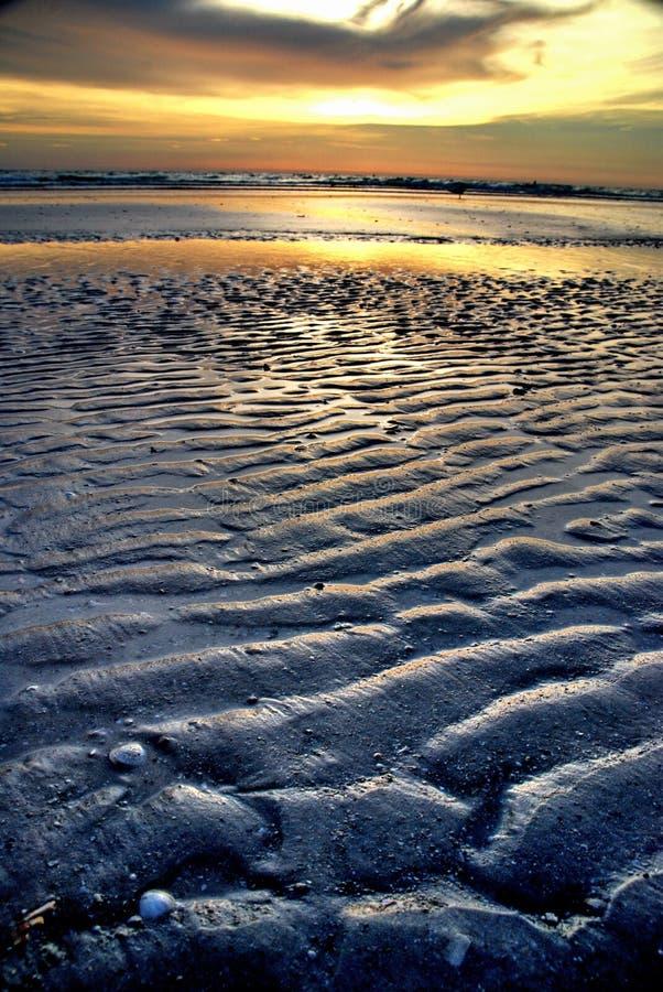 Florida-Strand bei Sonnenuntergang lizenzfreies stockbild