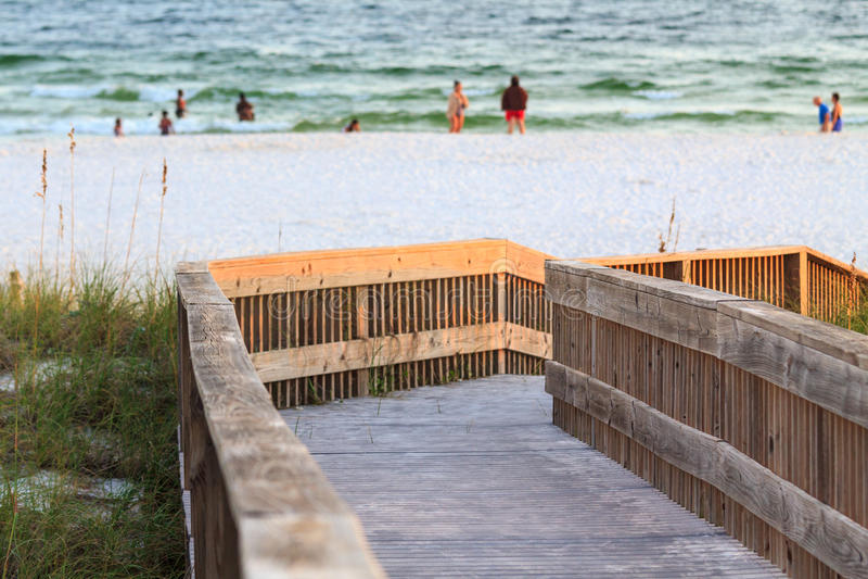 Florida strandtillträde arkivfoto