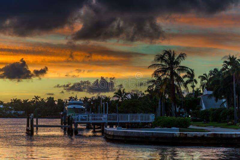 Florida Sunset stock photo