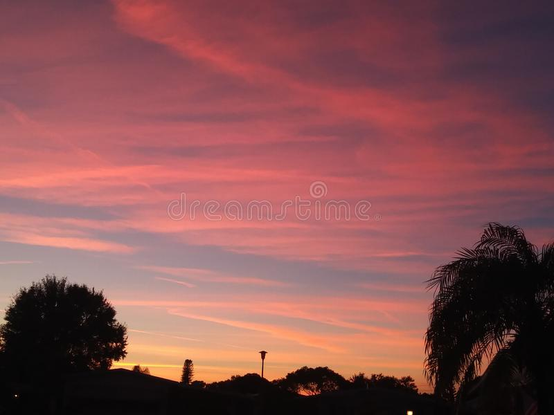 Florida sunsets. Florida fall sunsets royalty free stock images