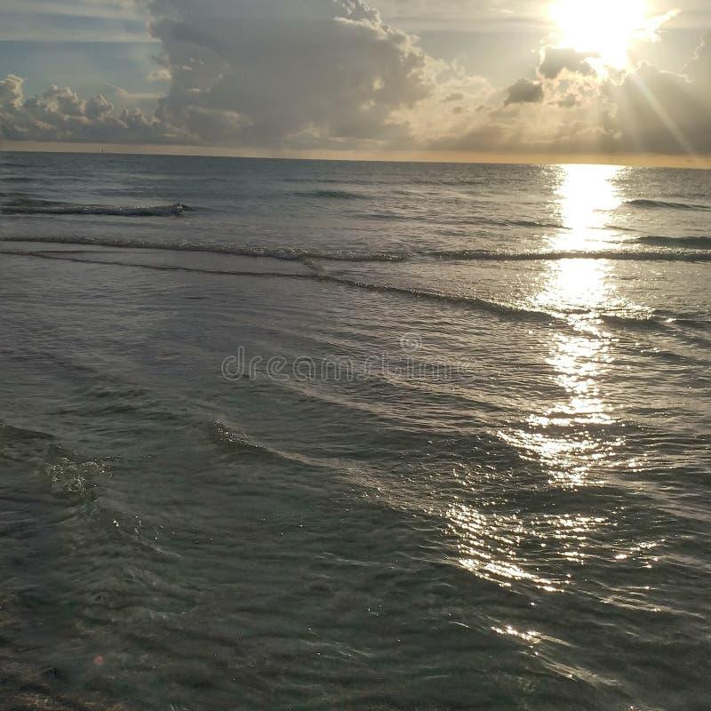 Florida sydvästlig solnedgångsikt, stränder arkivfoton