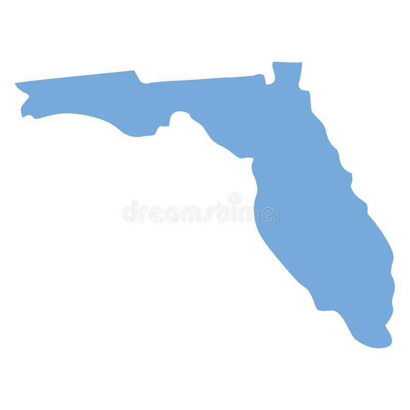 Florida tillståndsöversikt stock illustrationer