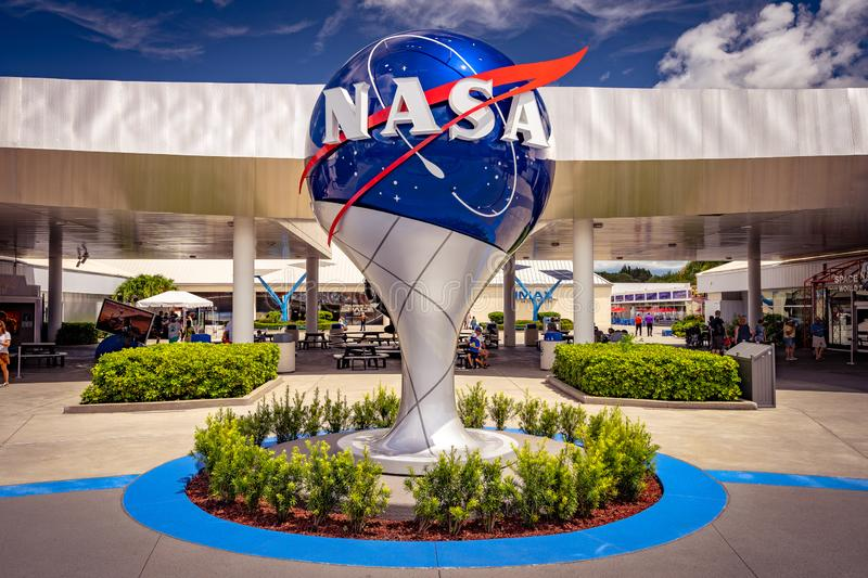Florida, USA - NASA globe in Kennedy Space center royalty free stock photography
