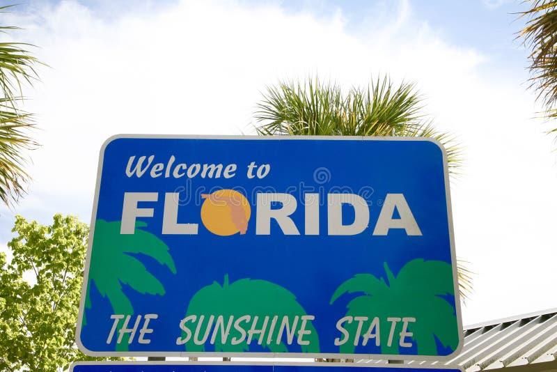 Florida välkommet tecken arkivfoto