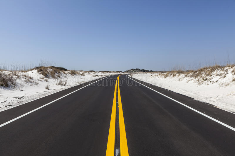 Download Florida White Sand Beach Road Stock Images - Image: 32091764