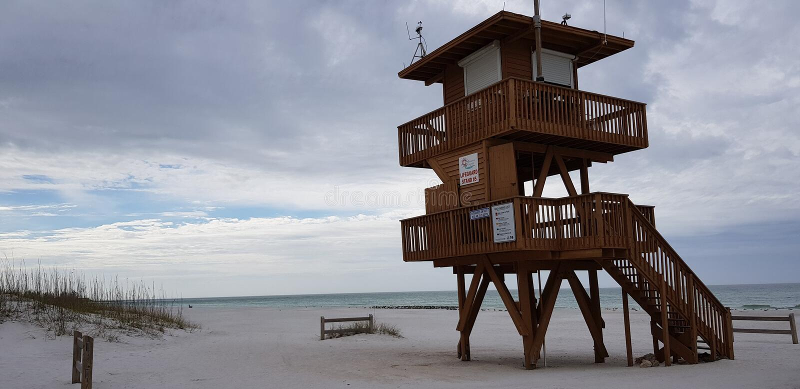 Floride de Bradenton la Floride de plage de Coquina images stock