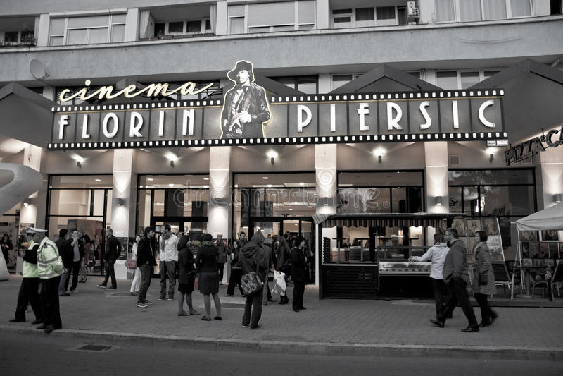 Florin Piersic Cinema, Comedy Cluj Opening royalty free stock photos