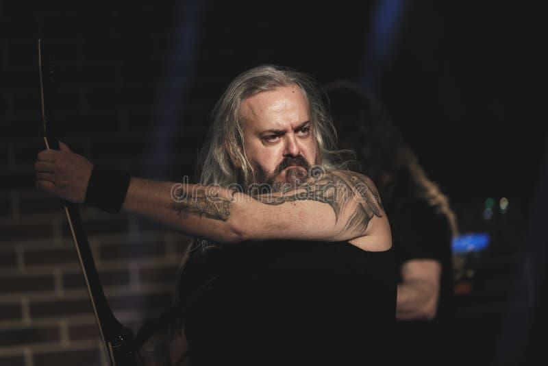Florin Tibu Crivat of Bucovina Heavy Metal Band stock image