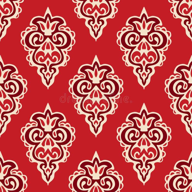 florish锦缎无缝的传染媒介的样式 皇族释放例证