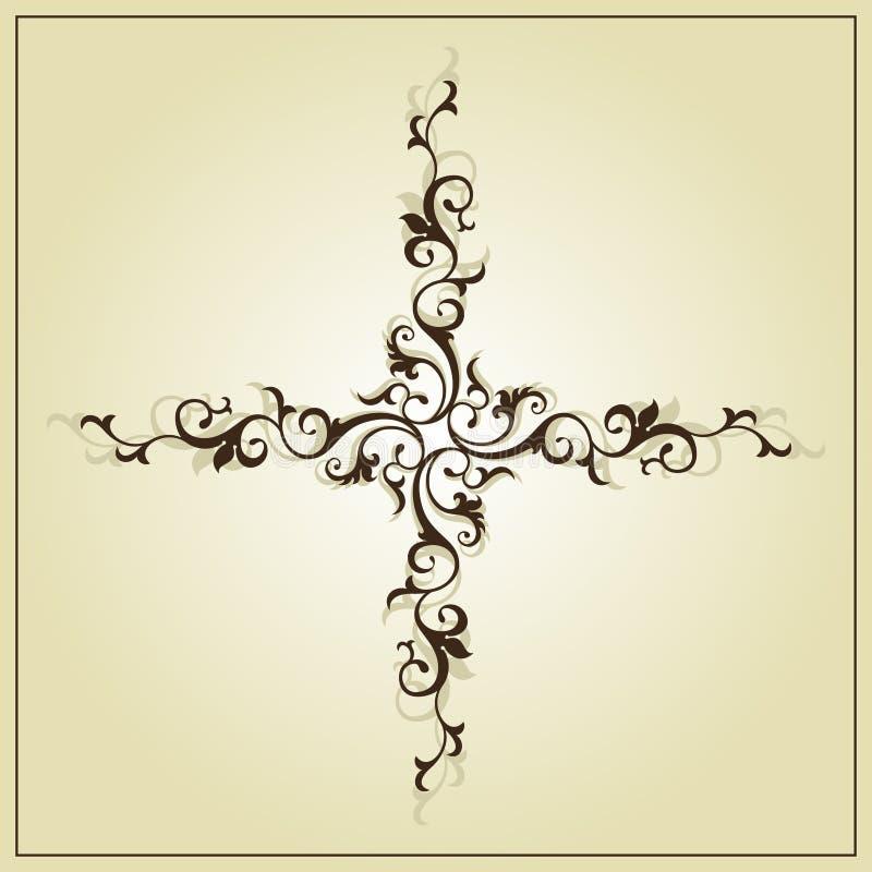 Florish Uitstekend kruis vector illustratie
