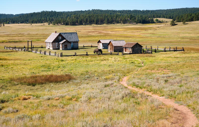 Florissant Fossil Beds National Monument. Farm trail royalty free stock photo