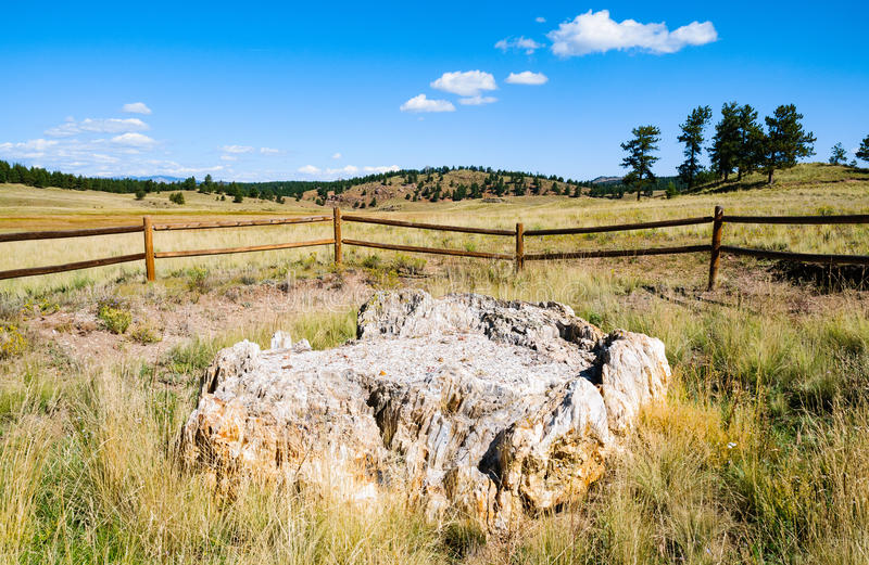 Florissant Fossil Beds National Monument. Fence stock photo
