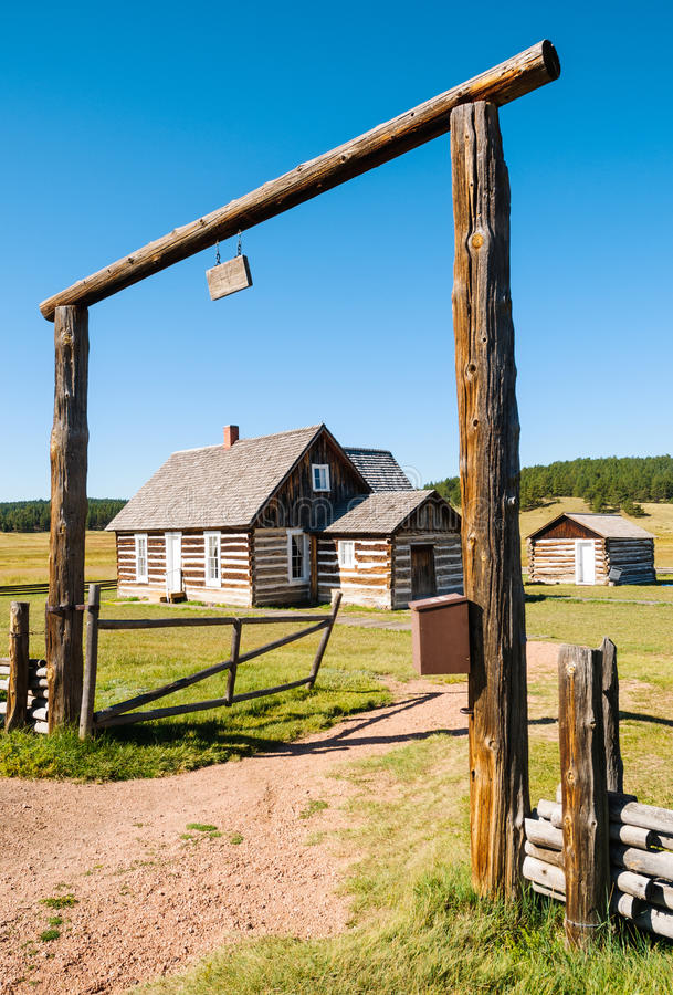 Florissant Fossil Beds National Monument. Historic stock photo