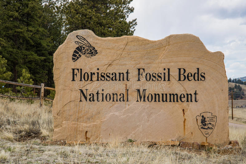 Florissant fossil beds national monument. National park service in south central colorado stock photography