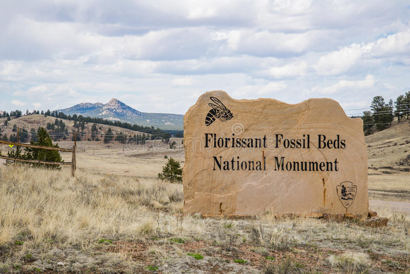 Florissant fossil beds national monument. National park service in south central colorado royalty free stock image