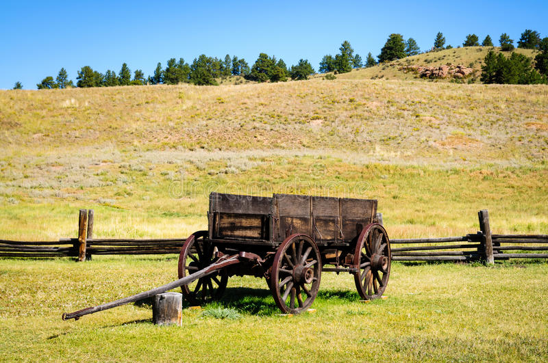 Florissant Fossil Beds National Monument. Wagon Wooden stock photos
