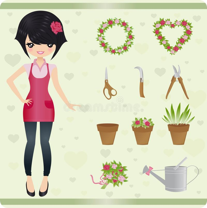 Florist stock illustration