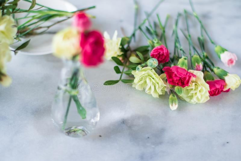 Florist bouquet design - wedding, holiday and floral garden styled concept. Elegant visuals royalty free stock photos