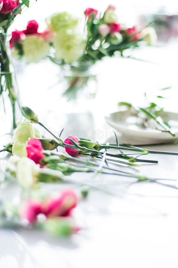 Florist bouquet design - wedding, holiday and floral garden styled concept. Elegant visuals royalty free stock image