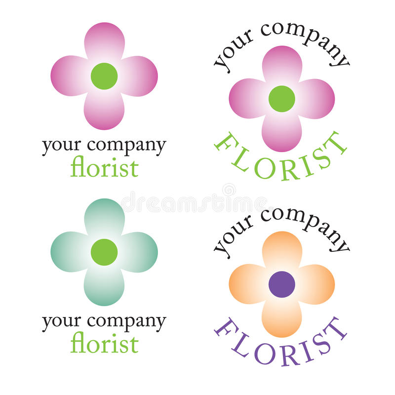 Florist Logo Stock Photography