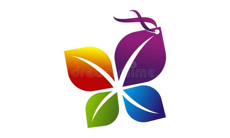Florist Shop Tag. Logo Design Template Vector royalty free illustration
