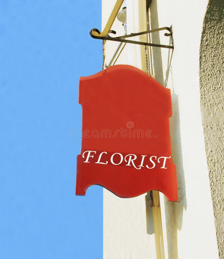 Download Florist sign. stock image. Image of gifts, arrangement - 20275257