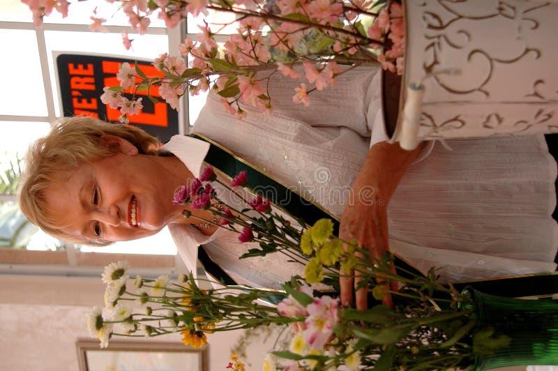 Florist Working Stock Photos
