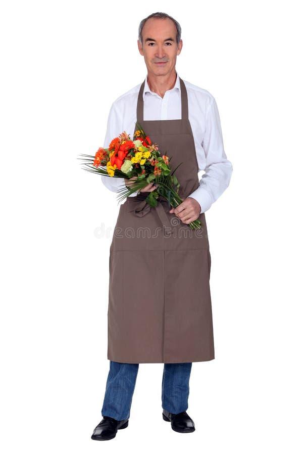 Florista de sexo masculino fotos de archivo libres de regalías