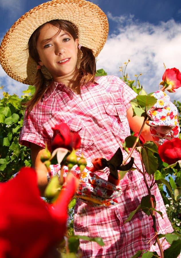 Florista joven imagenes de archivo