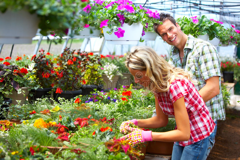 Floristas dos povos imagens de stock royalty free